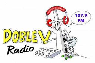 logo doble v radio