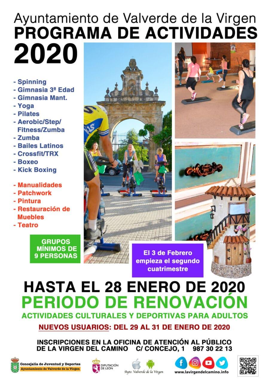 Renovación Actividades 2020